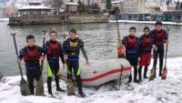 Rize'de Karda Rafting Bir Başka